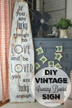 Looking for some St. Patrick's Day decor that is not full of shamrocks and leprechauns? Check out this DIY Vintage Ironing Board Sign from My Creative Days. by marylou