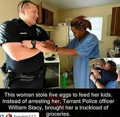 This is a good man and a good cop. This kind of thing should be on the news showing that there is such a thing as a good cop. :)