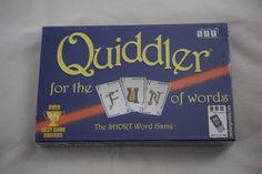 QUIDDLER Card Game NEW & SEALED The Short Word Game from SET Enterprises #SETEnterprises