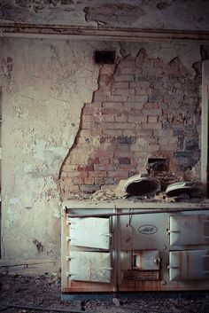 Scullery - abandoned Manor House, Great Tew, Oxfordshire.