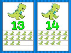 FREEBIE!  Dinosaur ten frame cards!