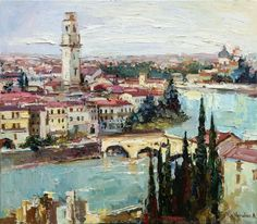 Buy Verona - Italy Landscape painting, Oil painting by Anastasiya Valiulina on Artfinder. Discover thousands of other original paintings, prints, sculptures and photography from independent artists.