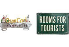 Tourist Signs, Pair on OneKingsLane.com