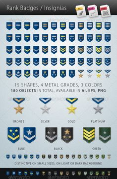 Rank Badges Insignias — Transparent PNG #ratings #silver • Available here → https://graphicriver.net/item/rank-badges-insignias/5598082?ref=pxcr