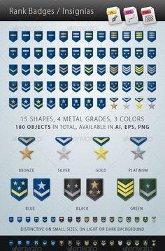 Game Ui Design, Badge Design, Icon Design, Logo Design, Graphic Design, Army Ranks, Military Ranks, Medan, Best Icons