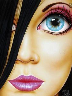 """Jamie"" by Scott Rohlfs Illustrations, Illustration Art, Avatar Picture, Pop Art Girl, Photoshop, Portraits, Arte Pop, Girl Cartoon, Face Art"