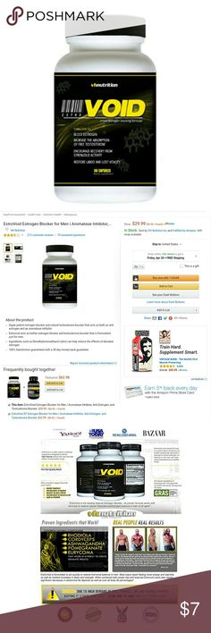 Testosterone Booster & More Super potent estrogen blocker and natural testosterone booster that acts as both an anti estrogen and an aromatase inhibitor  Estrovoid acts as bother estrogen blocker and testosterone booster that is formulated just for men.  Ingredients such as Dimethylaminoethanol (dim) can help reduce the effects of elevated estrogen Other