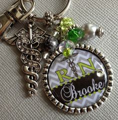 RN Nurse Personalized Keychain nurse graduate BSN by buttonit