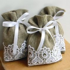 rustic linen gift bags - Google Search