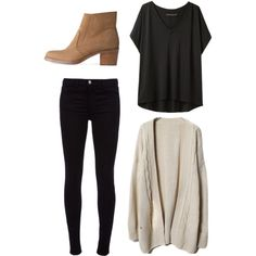A fashion look from January 2013 featuring rag & bone t-shirts, J Brand jeans and A.P.C. ankle booties. Browse and shop related looks.