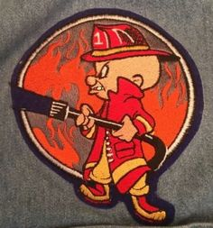 Looney Tunes Elmer Fudd Firefighter Firefighter Decals, Firefighter Paramedic, Firefighter Pictures, Volunteer Firefighter, Cute Cartoon Pictures, Cartoon Pics, Fire Dept, Fire Department, Elmer Fudd