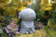 This Jizo Garden Statue is by far one of most adorable Bodhisattva Buddha statues I have ever seen. Jizo is the embodiment of the Bodhisattva Vow,