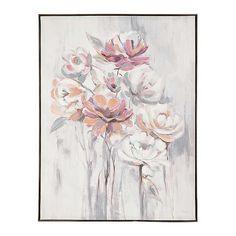 Salmon Rose Floral Bunch Framed Canvas Art Print | Kirklands
