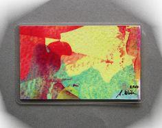 Acrylmalerei - Geschenk # Taschenkunst Malerei # 14 Unikat Neu - ein Designerstück von Kunstgalerie-Winkler bei DaWanda
