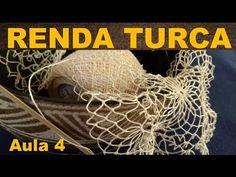 RENDA TURCA #FAZENDO RENDA PASSO A PASSO - AULA 4 - YouTube Needle Tatting, Needle Lace, Red Y, Macrame Knots, Irish Lace, Lace Making, Irish Crochet, Needlework, Free Pattern