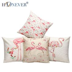 Stylish Flamingo Cushion Cover Cotton Linen Throw Pillow Case Birds Cushion Covers Sofa Bed Decor Patio Cushion Replacements Outdoor Chair Replacement Cushions From Yyd942017, $21.95  Dhgate.Com