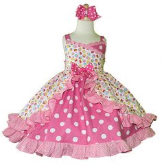 Playful third birthday party dress has tiered skirt with chiffon ...
