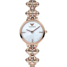 EMPORIO ARMANI AR7408 Catwalk rose gold-toned and mother-of-pearl... (7,260 MXN) ❤ liked on Polyvore featuring jewelry, watches, rose gold, gold tone watches, circle jewelry, water resistant watches, rose jewelry and mother of pearl watches