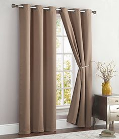 ME Nicole Solid Room Darkening Energy Saving Window Curtain Panel W