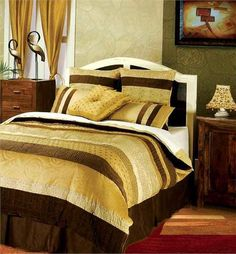 Gwalior - 7pc Duvet Set - (BT-548) - Queen. Gwalior - 7pc Duvet Set - (BT-548) - Queen - 96 x 98 An extremely fine work of subtle brown with multi beige colors gives the creation a rich and royal look. It is combining of cotton and polyester and can be dry clean only. In.. . See More Bedding Sets at http://www.ourgreatshop.com/Bedding-Sets-C729.aspx