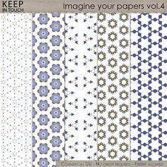 Imagine your papers - Patterns Vol.4 , cudigitals.com, cu, commercial, scrap, scrapbook, digital, graphics