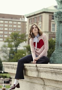 Ivy League: The 13 Smartest Sweaters of the Season Starring Andreea Diaconu and Ansel Elgort – Vogue
