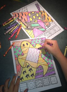 "Interactive coloring sheets for Halloween...more than ""just coloring!"""