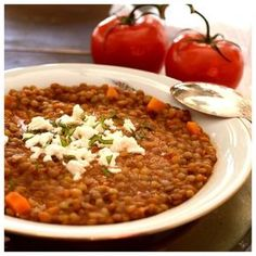 Greek Recipes, Vegan Recipes, Dessert Recipes, Desserts, Kid Friendly Meals, Chana Masala, Chili, Main Dishes, Beans