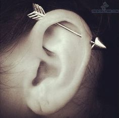 if this wouldn't hurt as much as I hear it does and draw so much attention I would get an industrial just for this earring
