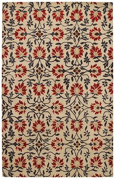 The Charming Suzani is a vibrant pattern that can accent the #red in any room. It's 100% wool and hand tufted. #rugs #capel