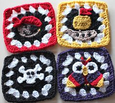 free crochet pattern pirate granny squares