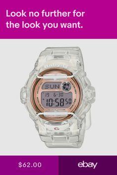c4c2adc37b34 Casio Baby-G BG169G-7BCR Whale Series Womens Clear Bronze Resin Digital  Watch