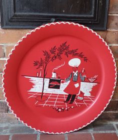 Hey, I found this really awesome Etsy listing at https://www.etsy.com/listing/473986493/wonderful-vintage-19-bbq-tray-with