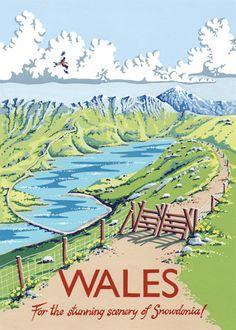 Wales Art Print by Kelly Hall at King & McGaw