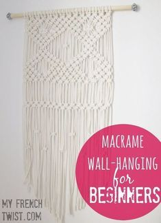 macrame plant hanger+macrame+macrame wall hanging+macrame patterns+macrame projects+macrame diy+macrame knots+macrame plant hanger diy+TWOME I Macrame & Natural Dyer Maker & Educator+MangoAndMore macrame studio Macrame Wall Hanging Patterns, Boho Wall Hanging, Macrame Patterns, Diy Hanging, Macrame Tutorial, Diy Tutorial, Macrame Projects, Sewing Projects, Sewing Ideas