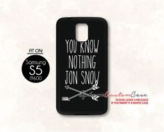 you know nothing jon snow for Samsung S5 Black case