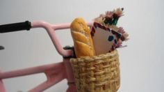 Picnic, Basket, Bike, Miniatures, Picnics