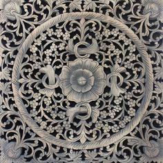 Asian Wood Carving Wall Art Panel. Wall Hanging. by SiamSawadee