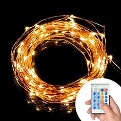 SUPTMAX 100Led 33ft USB Garden Lights String Lights Waterproof Copper Wire LED Starry Light with UL CE Certified Remote Controller for Christmas Wedding Party Outdoors Controller Warm White -- Continue to the product at the image link.
