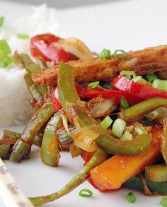 Recette chinoise Chop suey végétarien - remplacer le sucre roux (sucre coco / sirop d'agave)