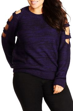 City Chic Cutout Sleeve Sweater available at #Nordstrom