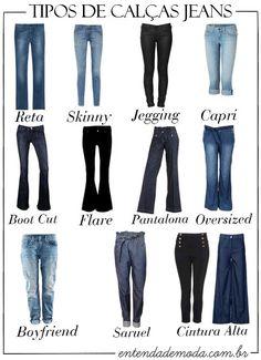 Tipos de calça