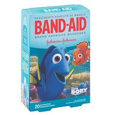 Finding Dory Children's Band-Aid adhesive bandages, perfect for Disney Tinkerbell Gifts or for Disney Cruise Fish Extender Gifts. Disney Finding Dory, Disney Pixar, Finding Nemo, Tinkerbell Gifts, Allergies Vs Cold, Dory Characters, First Aid Kit Supplies, Bandage, Johnson And Johnson