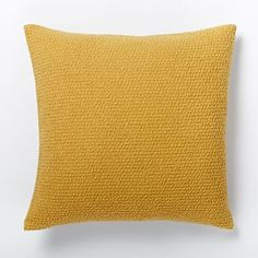 $42 with insert and discount Cozy Boucle Pillow Cover - Horseradish #westelm