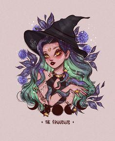 Cute Dragon Drawing, Witch Drawing, Dream Drawing, Zodiac Art, Zodiac Signs, Ophiuchus Zodiac, Character Art, Character Design, Witch Art