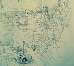 Just got back from pen sketching at a baseball game.