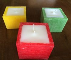 Square Candles, Homemade Candles, Candels, Nature Crafts, Candle Making, The Balm, Projects To Try, Arts And Crafts, Soap