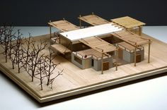 Campina Verde - CTA - Candida Tabet Arquitetura www.candidatabet.com Architecture Model Making, Japanese Architecture, Landscape Architecture, Architecture Design, Co Housing, Architect Drawing, Arch Model, Best Model, House Plans