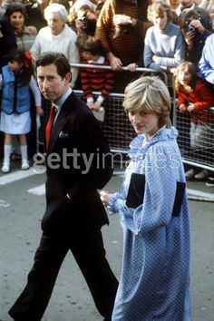 April 20, 1982: Prince Charles and Princess Diana on a walkabout during their visit to St Mary's, Scilly Isles.