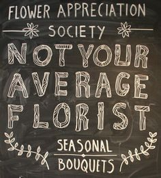 [Lovely chalking by Lauren Gentry.] Love faux bois and appreciate nice lettering. I'm going to try this.